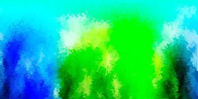 lichtblauwe, groene vector kleurovergang veelhoek lay-out.