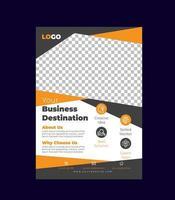 oranje kleur corporate flyer-sjabloon vector