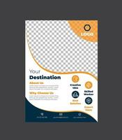 moderne zakelijke flyer sjabloonontwerp vector