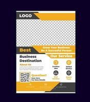 creatieve corporate flyer ontwerpsjabloon vector