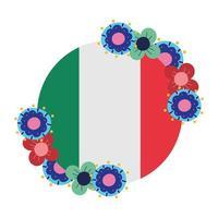 Mexicaanse onafhankelijkheidsdag, viva mexico wordt gevierd in september, vlag ronde banner bloemen decoratie