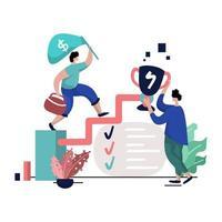 carrière coaching illustratie vector