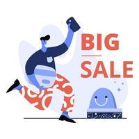 vlakke afbeelding van grote verkoop