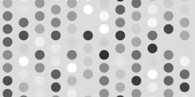 lichtgrijs vectorpatroon met bollen.