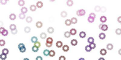 licht veelkleurige vector achtergrond met bubbels.