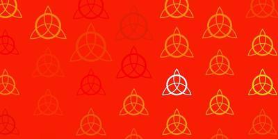 lichtgele vectortextuur met religie symbolen.