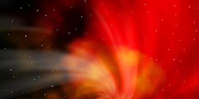 donkeroranje vectorpatroon met abstracte sterren.