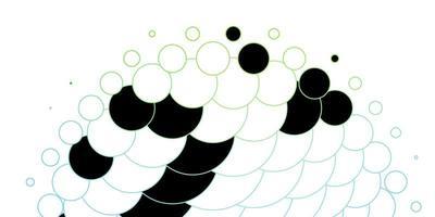 donkerblauwe, groene vectorachtergrond met cirkels.