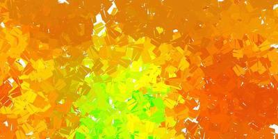 donkergroene, gele vector geometrische veelhoekige lay-out.