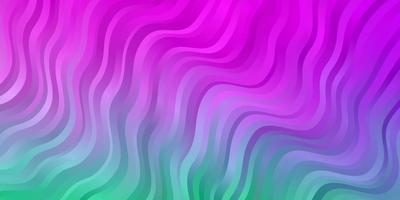 lichtroze, groene vectorachtergrond met cirkelboog.