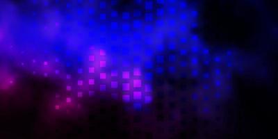 donkerroze, blauwe vectorachtergrond in veelhoekige stijl.