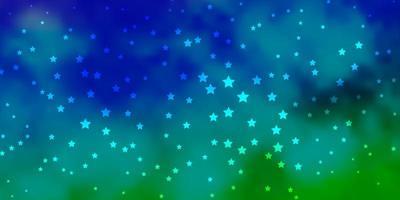 donker veelkleurig vectorpatroon met abstracte sterren.