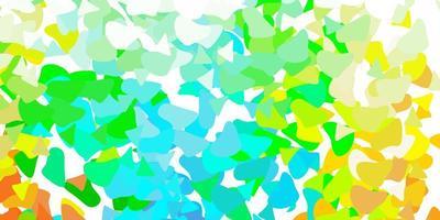 lichtblauwe, gele vectorachtergrond met chaotische vormen.