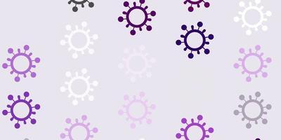 lichtpaarse vectortextuur met ziektesymbolen.