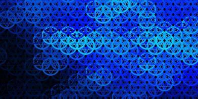 donkerblauwe vectortextuur met godsdienstsymbolen.