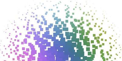 licht veelkleurige vectortextuur in rechthoekige stijl.