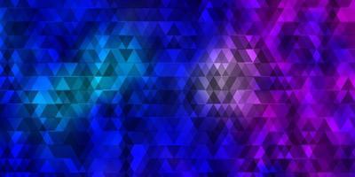 lichtroze, blauw vector sjabloon met lijnen, driehoeken.