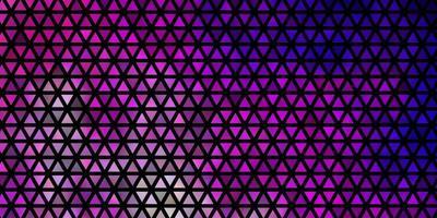 lichtpaars, roze vector sjabloon met kristallen, driehoeken.