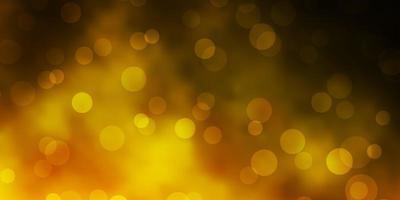 donkergroene, gele vectortextuur met cirkels.