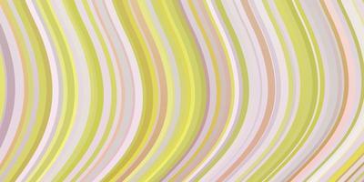 lichtroze, gele vectorachtergrond met wrange lijnen.