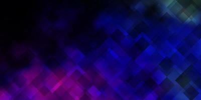 donker veelkleurig vectorpatroon in vierkante stijl.