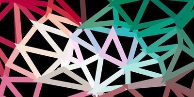 lichtgroen, rood vector driehoek mozaïek ontwerp.