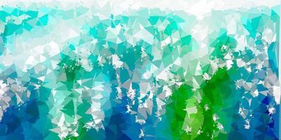 lichtblauw, groen vector poly driehoeksjabloon.