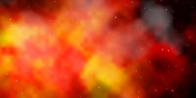 donkeroranje vector achtergrond met kleine en grote sterren.