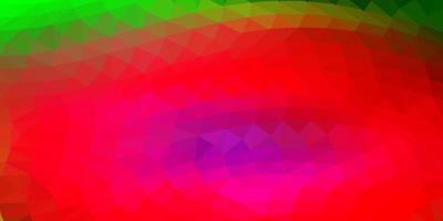 lichtroze, groene vector poly driehoeksjabloon.