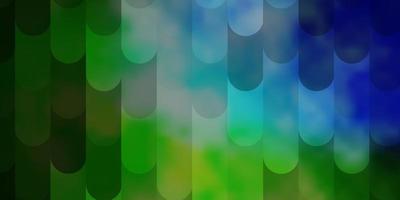 lichtblauwe, groene vectorachtergrond met lijnen. vector