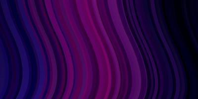 donkerpaars, roze vectortextuur met wrange lijnen. vector