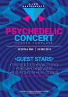 Eenvoudige psychedelische concertafbeeldingen poster sjabloon vector