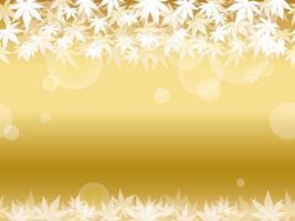Een naadloze gouden achtergrond van het esdoornblad.
