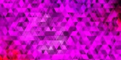 donkerpaarse, roze vectorachtergrond met lijnen, driehoeken. vector