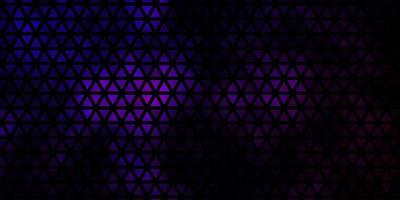 donkerpaarse vectortextuur met driehoekige stijl. vector