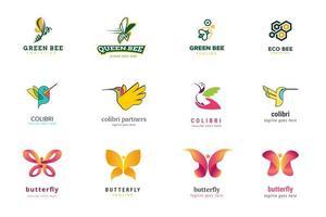 set logo ontwerpsjablonen