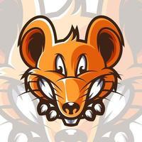 muis mascotte ontwerp op witte achtergrond vector