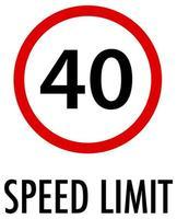 maximumsnelheid teken op witte achtergrond vector