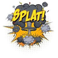 splat tekst op komische wolk explosie geïsoleerd op een witte achtergrond vector