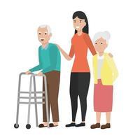 grootmoeder en grootvader cartoon vector ontwerp