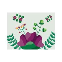 geïsoleerde bloemen kaart vector ontwerp
