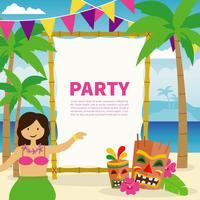 Polynesische verjaardagspartij illustratie vector