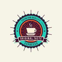 Unieke koffie-badge vectoren