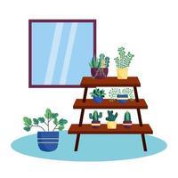 planten en meubels vector ontwerp