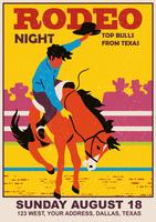 vintage rodeo flyer vector