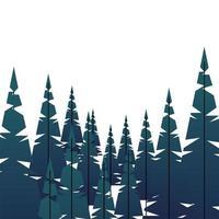 winterseizoen landschapsscène met dennenbos