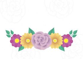 bloemen en bladeren Decoratief frame