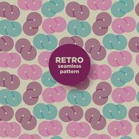 retro abstract naadloos patroon met cirkels