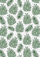 kegel met vuren tak, dennenboom element naadloze patroon, achtergrond, textuur. vector