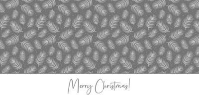 vrolijk kerstfeest. vuren tak, dennenboom element. naadloze patroon textuur achtergrond. vector